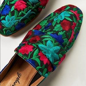 Free People At Ease Loafer Mule Brocade 39